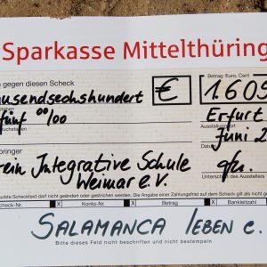 Spende von der Sparkasse Mittelthüringen – wir sagen Danke!